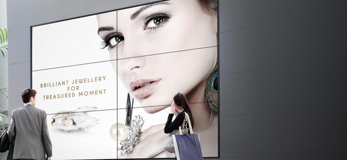 室外广告显示屏2x3拼接墙