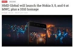 诺基亚要在2017MWC上推出四款手机:3310是重点